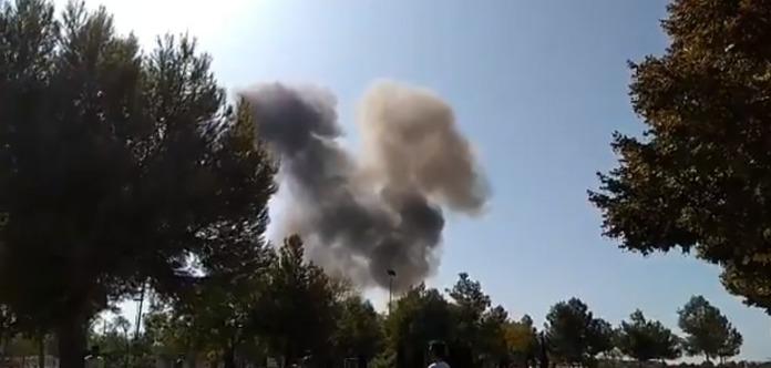 Испанский истребитель разбился после военного парада