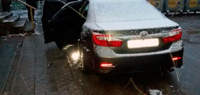 В центре Харькова взорвался автомобиль