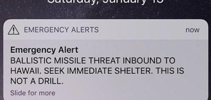 Ракеты запущены. Оператор случайно разослал страшное оповещение