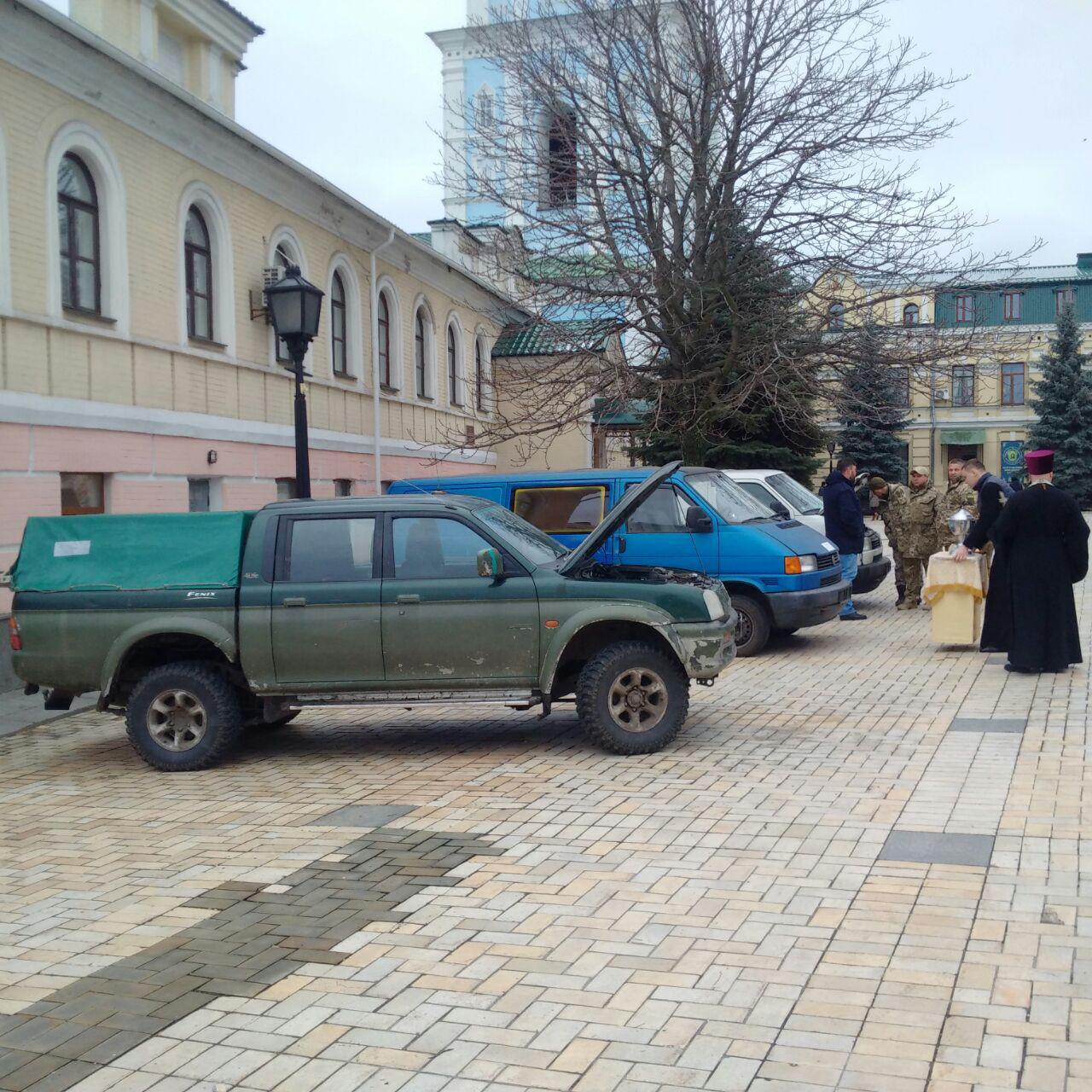 новости, украина, киев, ато, волонтеры, освящение, священник, михайловский собор, валентина варава