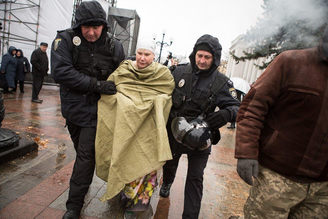 Femen, Верховна Рада, активістка, акція протесту, Петро Порошенко, Михайло Саакашвілі, політика, будівля, наметове містечко