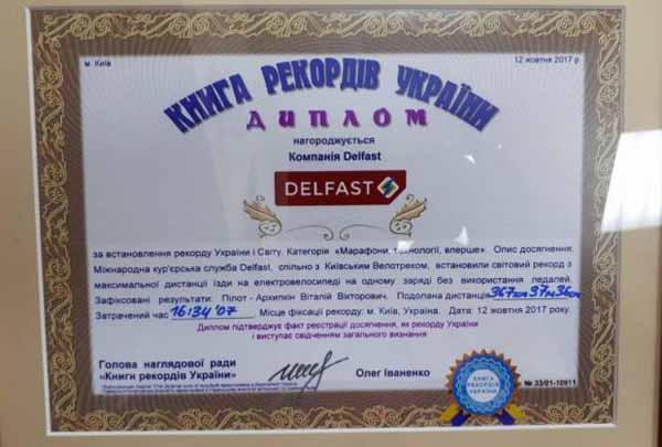 Український електробайк встановив світовий рекорд