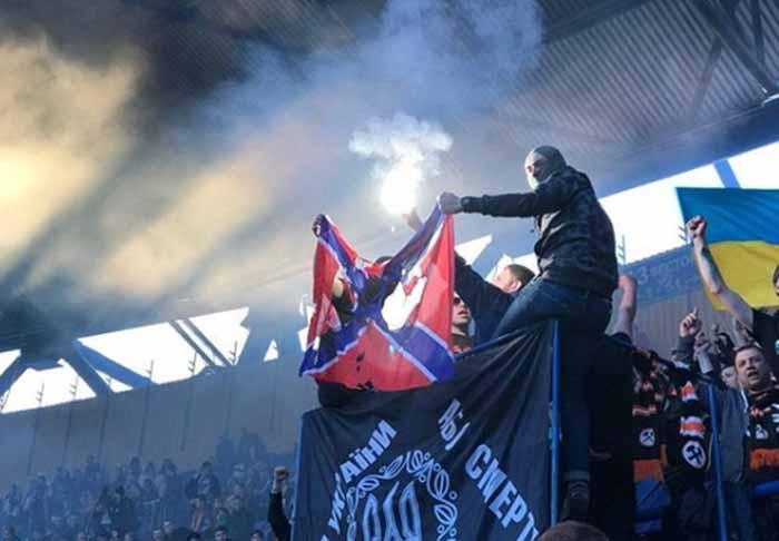 Ультрас дончан сожгли флаг «Новороссии»