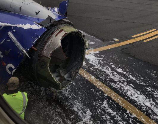 літак, двигун, травми, посадка, Філадельфія, США,